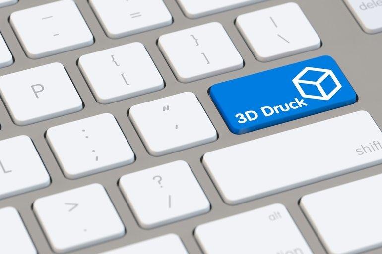 3D_Druck_Konzept_auf_der_Tastatur_von_einem_Computer
