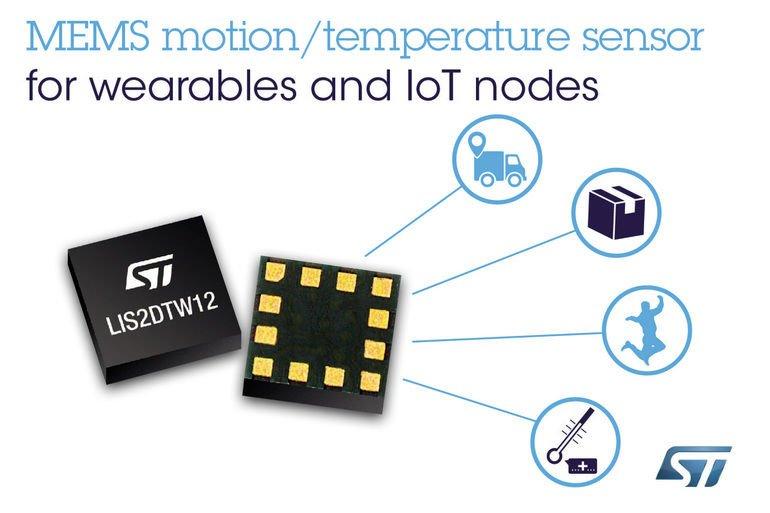 Beschleunigungs- und Temperatursensor