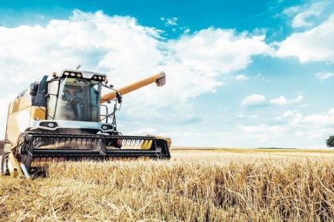 Combine_harvesters_Agricultural_machinery._The_machine_for_harvesting_grain_crops.