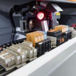 Bestückte_Tragschienen_Weidmueller Klippon Automated RailLaser