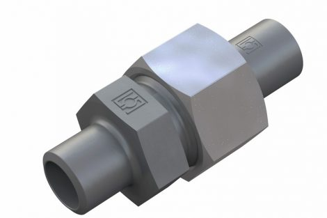 Einzelaufnahme_Stauff_Connect,_Rohrverschraubung,_Gerade_Anschweißverschraubung_FI-GASV_mit_Schweißkegel_FI-SN_|_Individual_Image_Stauff_Connect,_Tube_Fitting,_Straight_Weld_Connector_FI-GASV_with_Weld_Cone_FI-SN_