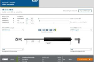 Online-Konfigurator Bremszylinder ace stoßdämpfer online-tool ölbremsen