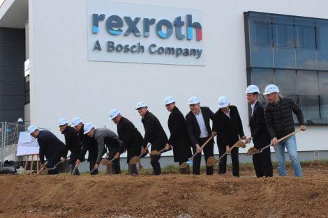 Bosch Rexroth innovationszentrum Spatenstich Ulm