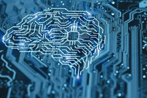 Artificial_intelligence_brain_on_blue_integrated_circuit_background._AI,_machine_learning_and_neural_network_concept.