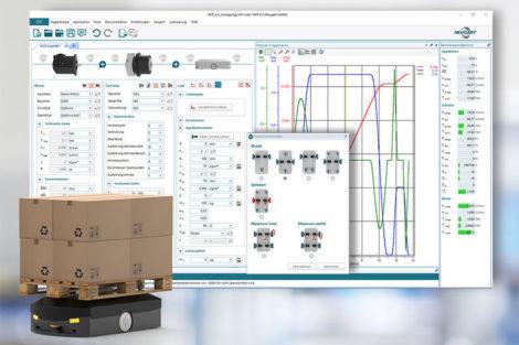 Konfigurationstool Neugart Calculation Program Getriebe-Motor-Kombination