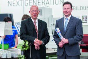 Dr. Joachim Belz und Dr. Kurt Woelfl, Geschäftsführer der ODU GmbH & Co. KG (v. l.) Bild: Michael Namberger/Konradin Mediengruppe