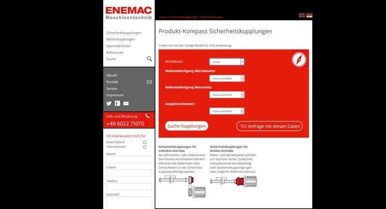 Enemac Produktkonfigurator