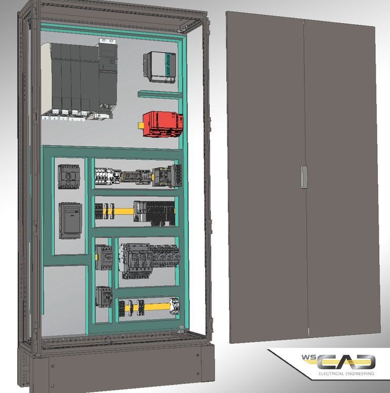 Wscaduniverse Com Bietet 3d Daten F 252 R Den Schaltschrankaufbau