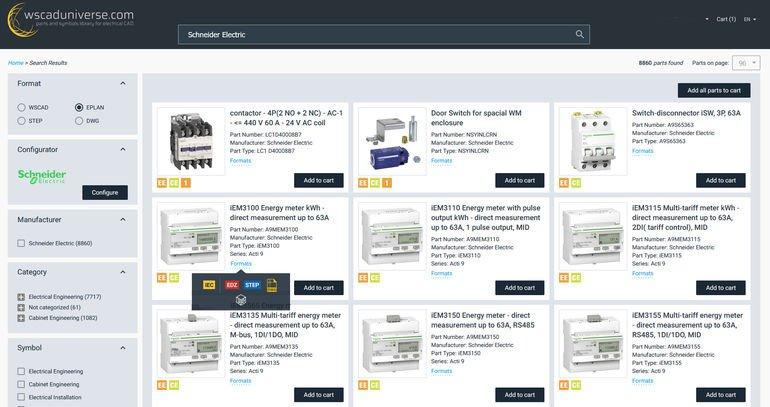 Screenshot_der_E-CAD-Datenbibliothek_wscaduniverse.com